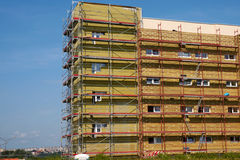 Shell insulation in new residential building Royalty Free Stock Image