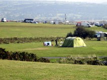 Shell Island Campsite, Wales stock foto