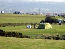 Shell Island Campsite, Wales Stock Foto