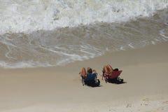 Shell Island, prendre un bain de soleil chillaxing de bronzage de la Floride photographie stock