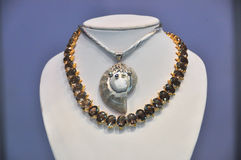 Shell jewelry necklace royalty free stock photography