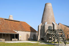 The shell lime kilns of Hasselt Royalty Free Stock Photos