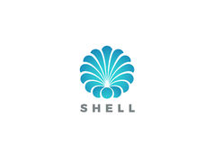 Shell Logo circle abstract design vector Travel  Stock Images