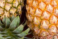 Shell maduro do abacaxi no alimento saudável do fruto do abacaxi do fundo da textura Foto de Stock