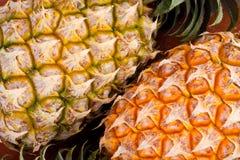 Shell maduro do abacaxi no alimento saudável do fruto do abacaxi do fundo da textura isolado Foto de Stock Royalty Free