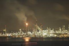 Shell Manufacturing Site sull'isola di Pulau Bukom fotografia stock libera da diritti