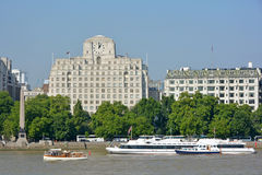 Shell Mex building and River Thames Stock Images