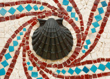 Shell Mosaic Design Stock Image