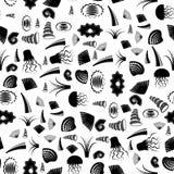 Shell naadloos patroon Kwallen in de Zwarte Zee Royalty-vrije Stock Afbeelding
