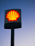Shell Oil Company Logo Illuminated Royalty Free Stock Image