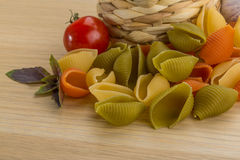 Shell pasta Stock Photos