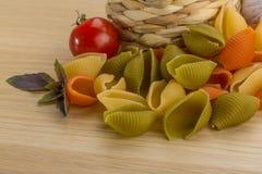 Shell pasta Stock Photos