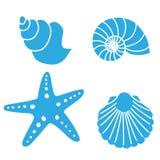 Shell pesca formulários ilustração do vetor
