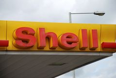 Shell petrol filling station Stock Images