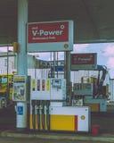 Shell Petrol Pump na estrada Bristol de Terra Nova imagem de stock royalty free