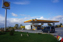 Shell Petrol Station. In Istanbul,Turkey stock photography