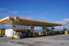 Shell Petrol Station Royalty Free Stock Image