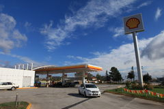 Shell Petrol Station. In Istanbul,Turkey stock images