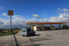 Shell Petrol Station Stock Photo