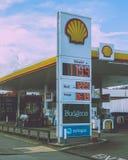 Shell Petrol Station na estrada Bristol de Terra Nova fotografia de stock