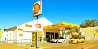 Shell Petrol Station, York, Western Australia Royalty Free Stock Photo
