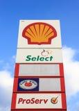 Shell Petrol, Tailândia fotografia de stock