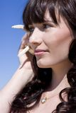 Shell Phone Caller Royalty Free Stock Images