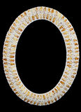 Shell photo frame. An oval shell frame isolated on black Royalty Free Stock Image