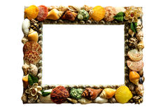 Shell picture frame. Royalty Free Stock Images