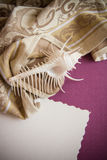 Shell on purple background Royalty Free Stock Photo