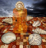 Shell queen on her throne Royalty Free Stock Image