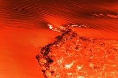 Shell-Rückstand auf der Oberfläche der Lava Hintergrund stockfoto