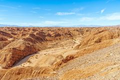 Shell Reef Expressway en parc d'?tat de d?sert d'Anza Borrego pr?s de Borrego Springs california LES Etats-Unis images stock