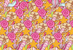 Shell Repeating Pattern Stock Image