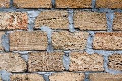 Shell rock concrete blocks wall. House wall made from shell rock concrete blocks Stock Photography