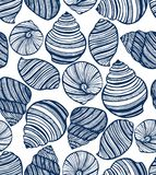Shell Seamless Hand Drawn Pattern Photos libres de droits