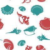 Shell seamless pattern 4 Royalty Free Stock Photos