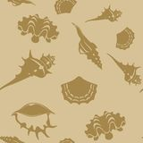Shell seamless pattern 6 Royalty Free Stock Images