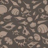 Shell seamless pattern 7 Royalty Free Stock Photography