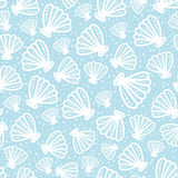 Shell seamless pattern on spotted background Stock Photos