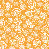 Shell seamless pattern on spotted background Royalty Free Stock Photography