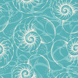 Shell seamless pattern Stock Photos