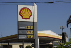 SHELL SELLS ONE DOLARE HIGHER Stock Images