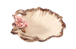 Shell-shaped dishes Stock Photography
