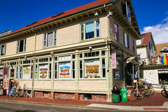 Shell Shop, rue commerciale, Provincetown, mA photographie stock