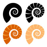 Shell silhouette Royalty Free Stock Photos