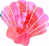 Shell Silhouette pour aquarelle illustration de vecteur