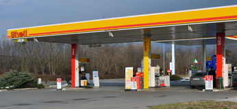 Shell station in Italy royalty free stock image