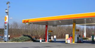 Shell stationieren Stockbild