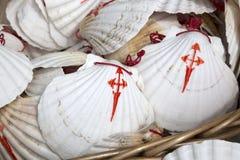 Shell Symbol de Camino de Santiago, Galicia Fotografía de archivo